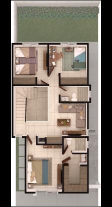 Foto de planta alta de casa en venta Modelo Bari en Lenna Residencial en Saltillo, Coahuila.