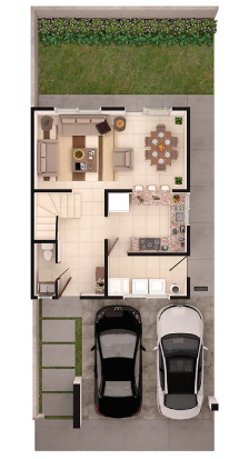 Foto de planta baja de casa en venta Modelo Bari en Lenna Residencial en Saltillo, Coahuila.